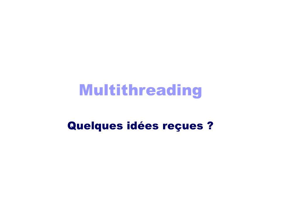 Multithreading Quelques idées reçues