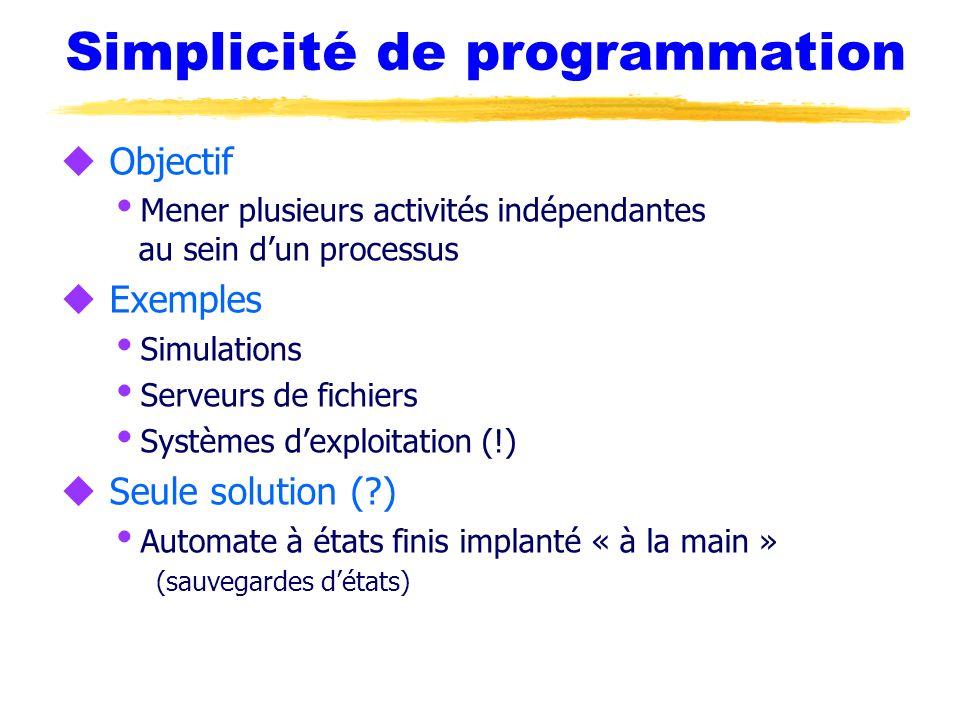 Simplicité de programmation