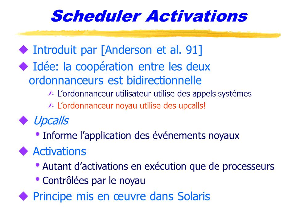 Scheduler Activations