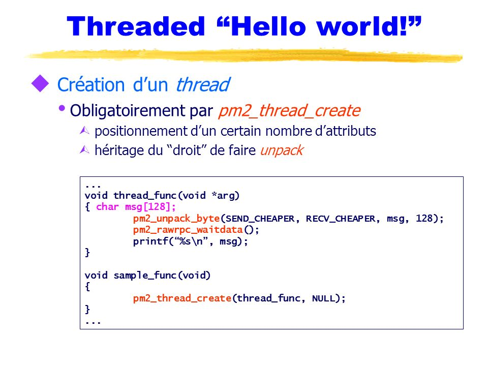 Threaded Hello world!