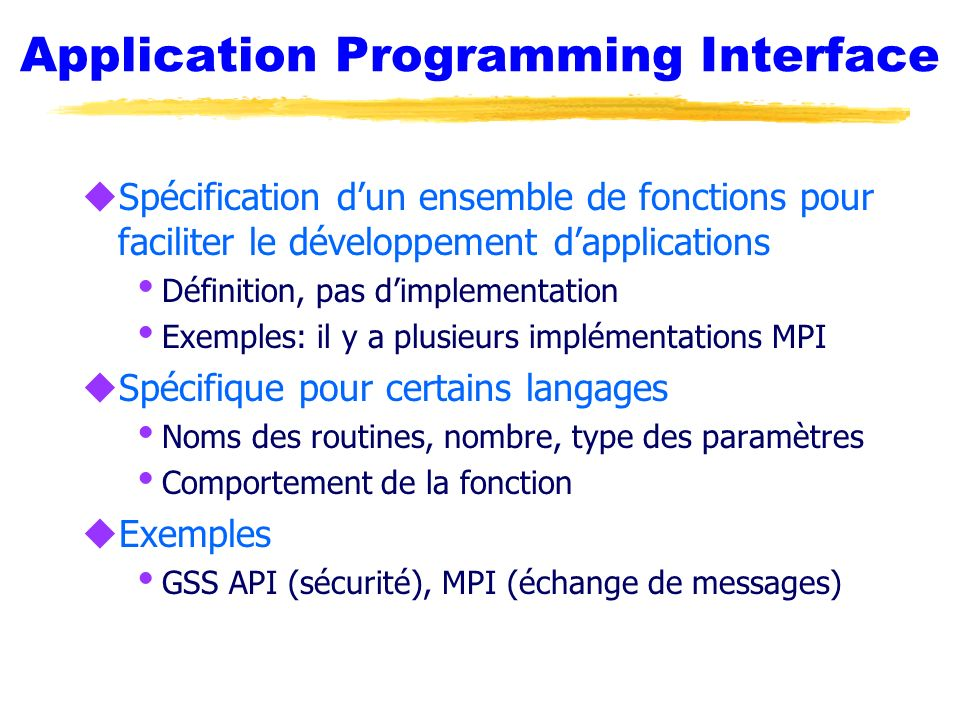 Application Programming Interface