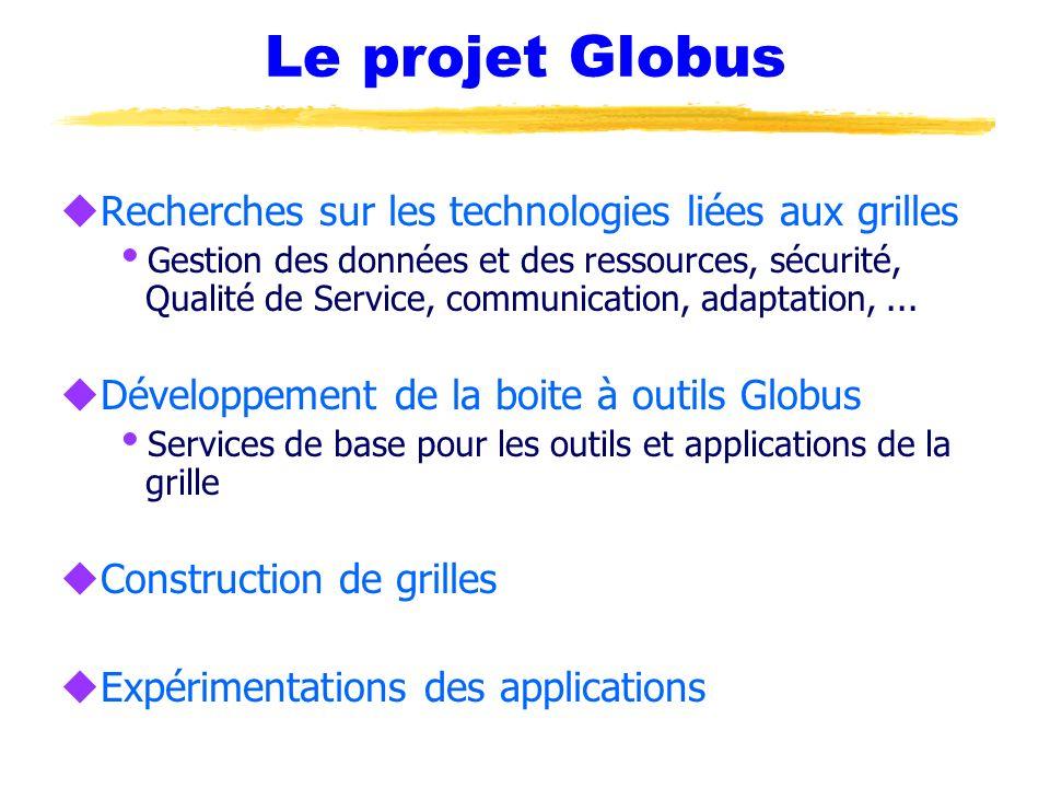 Le projet Globus Recherches sur les technologies liées aux grilles
