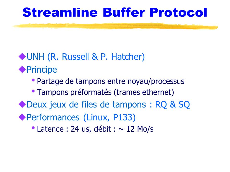 Streamline Buffer Protocol