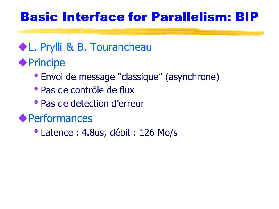 Basic Interface for Parallelism: BIP