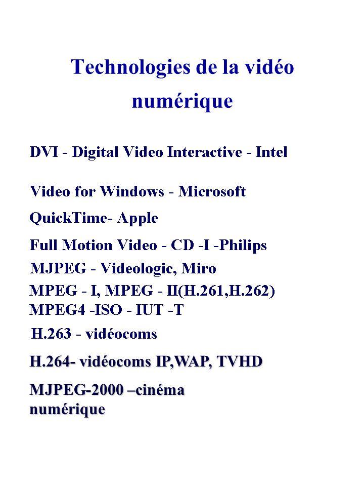 Technologies de la vidéo numérique