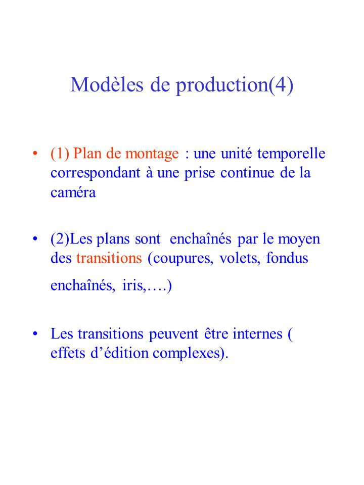 Modèles de production(4)