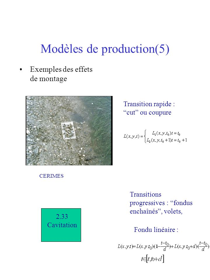 Modèles de production(5)