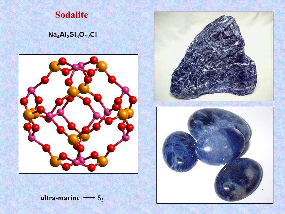 Sodalite Na4Al3Si3O12Cl ultra-marine S3