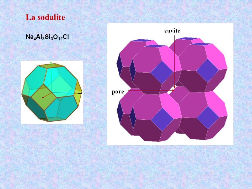La sodalite pore cavité Na4Al3Si3O12Cl