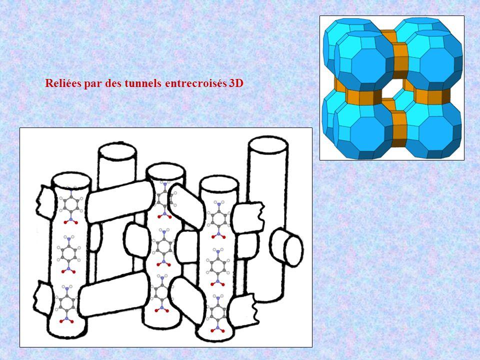 Reliées par des tunnels entrecroisés 3D
