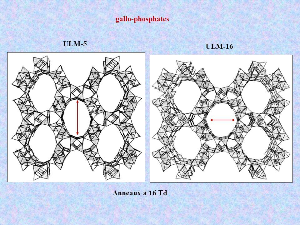 gallo-phosphates ULM-5 ULM-16 Anneaux à 16 Td