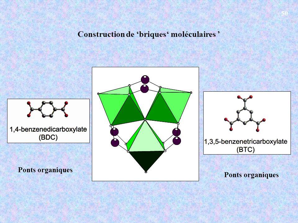 Construction de 'briques' moléculaires '