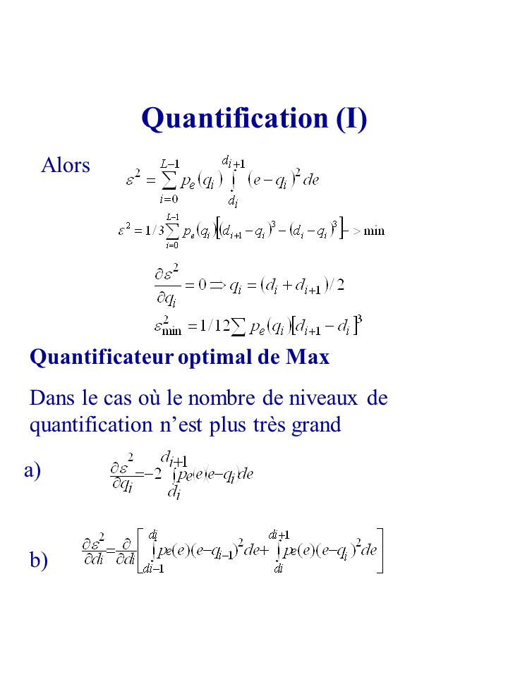 Quantification (I) Alors Quantificateur optimal de Max