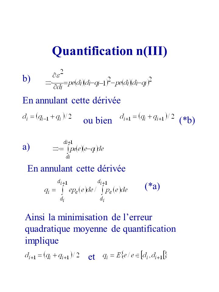 Quantification n(III)