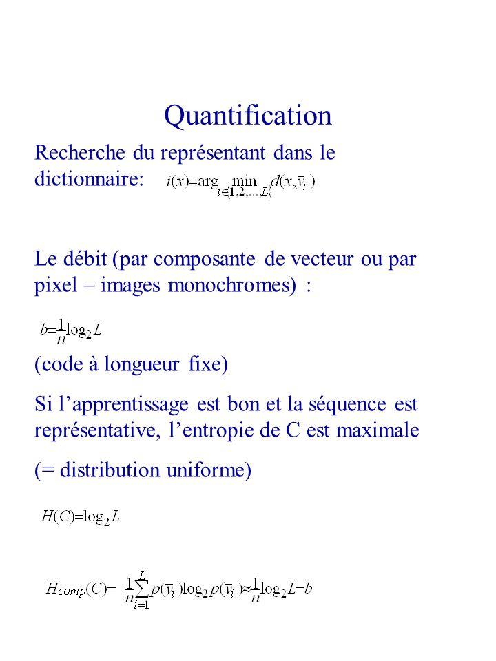 Quantification Recherche du représentant dans le dictionnaire: