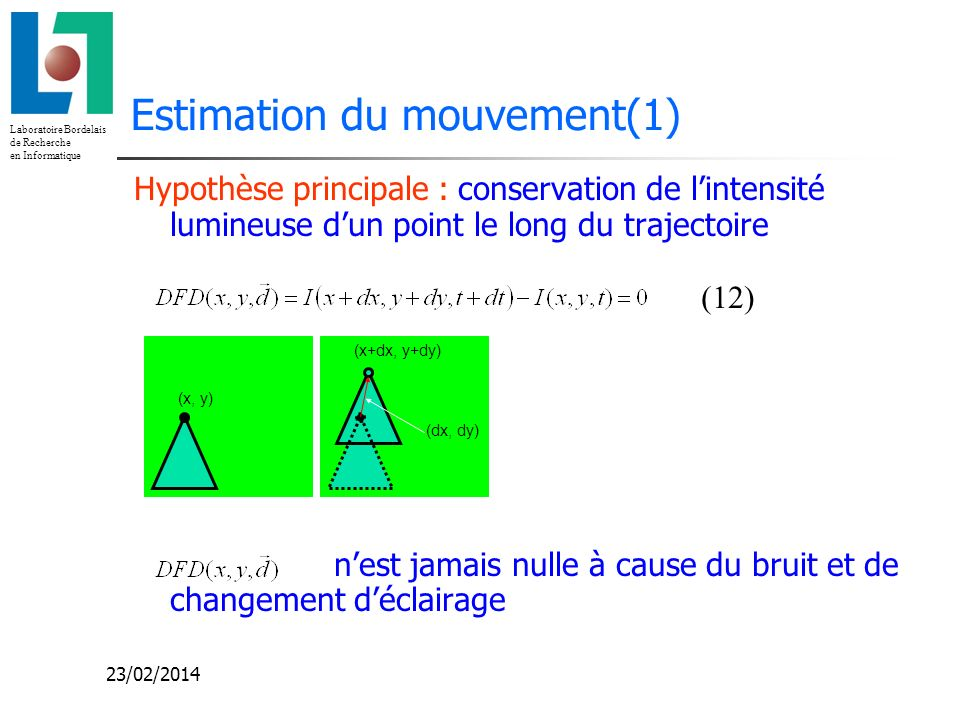 Estimation du mouvement(1)
