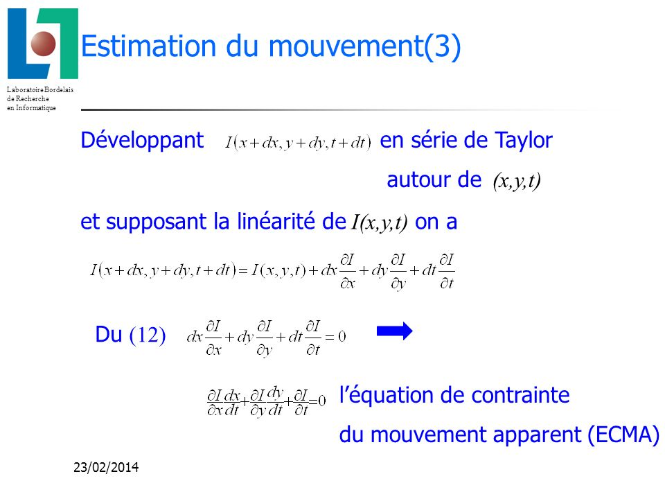 Estimation du mouvement(3)