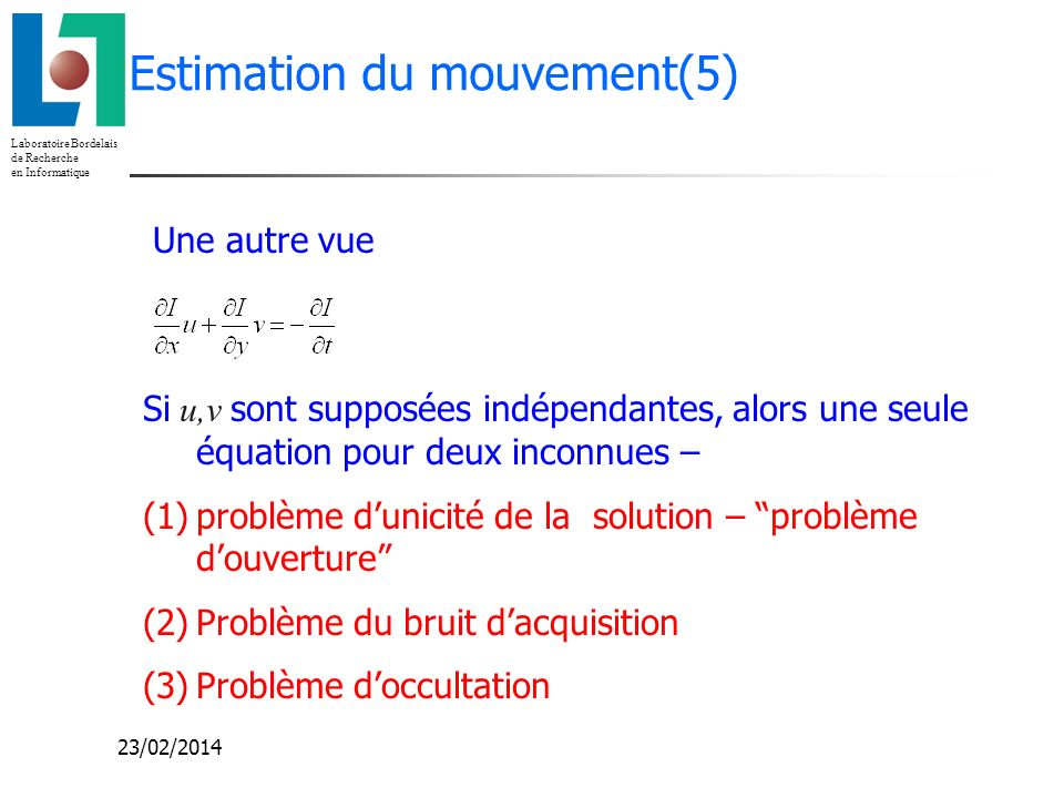 Estimation du mouvement(5)