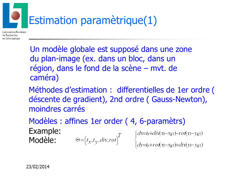 Estimation paramètrique(1)