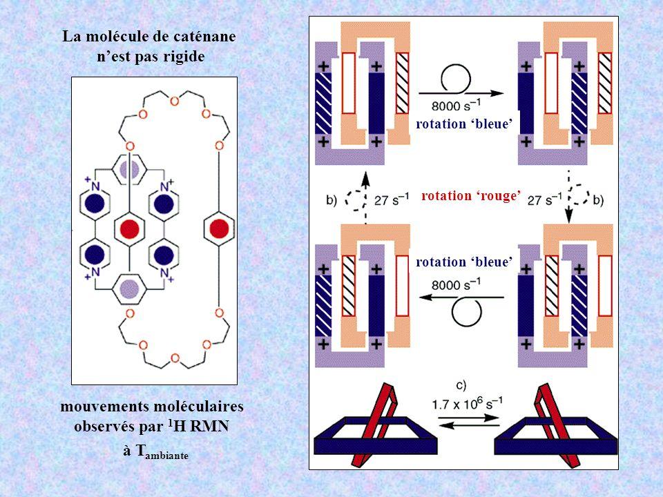 La molécule de caténane mouvements moléculaires