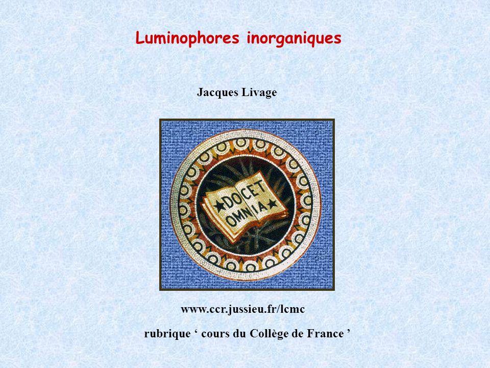 Luminophores inorganiques