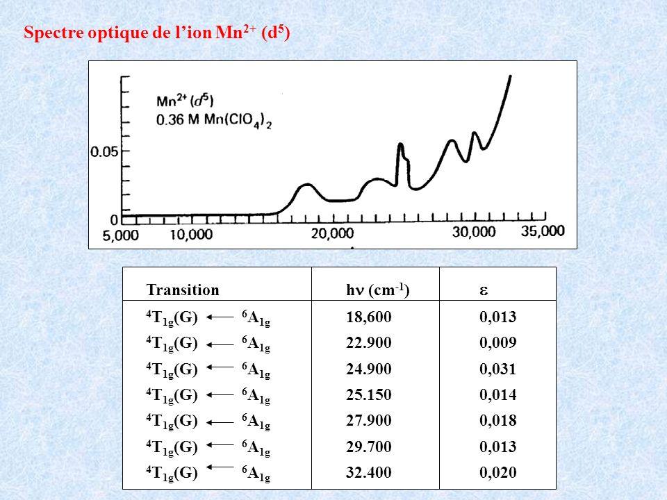 Spectre optique de l'ion Mn2+ (d5)