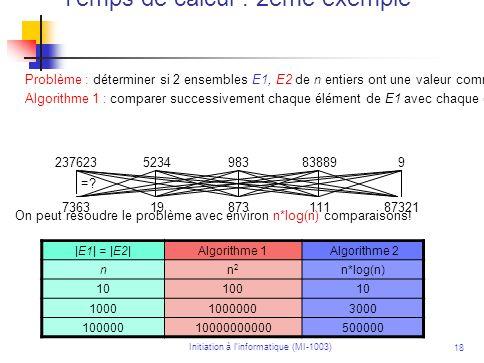 Temps de calcul : 2ème exemple