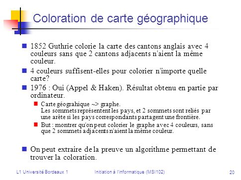 Coloration de carte géographique