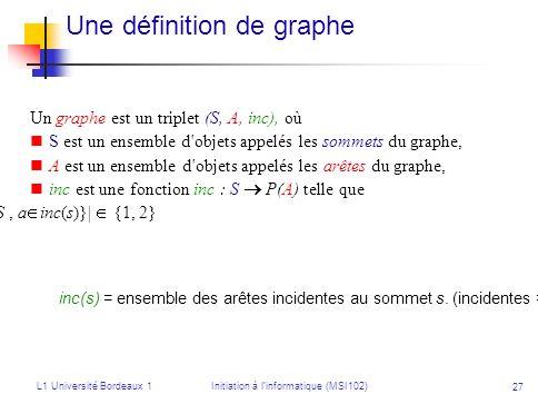 Une définition de graphe