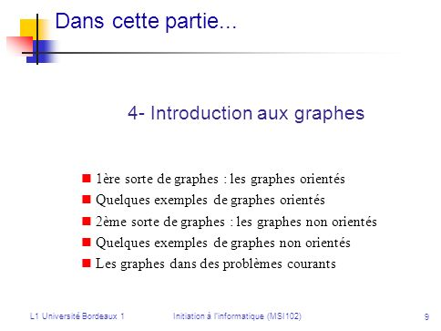 Initiation à l'informatique (MSI102)