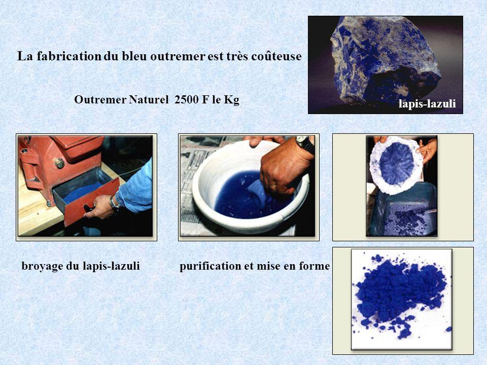 La fabrication du bleu outremer est très coûteuse