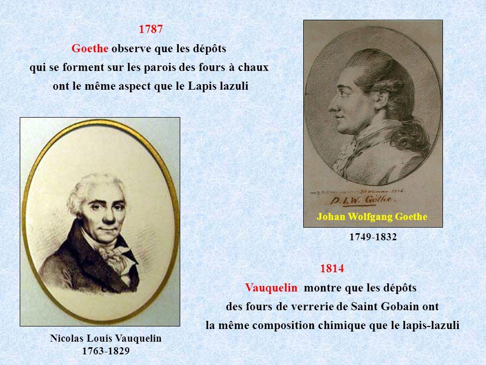 Goethe observe que les dépôts
