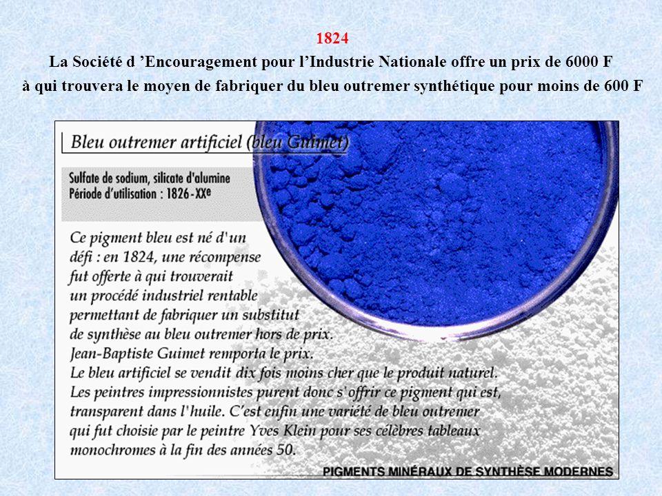 1824 La Société d 'Encouragement pour l'Industrie Nationale offre un prix de 6000 F.