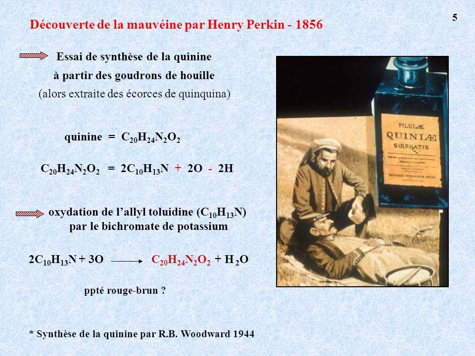 Découverte de la mauvéine par Henry Perkin - 1856