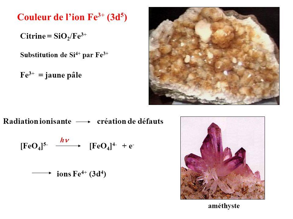 Couleur de l'ion Fe3+ (3d5)