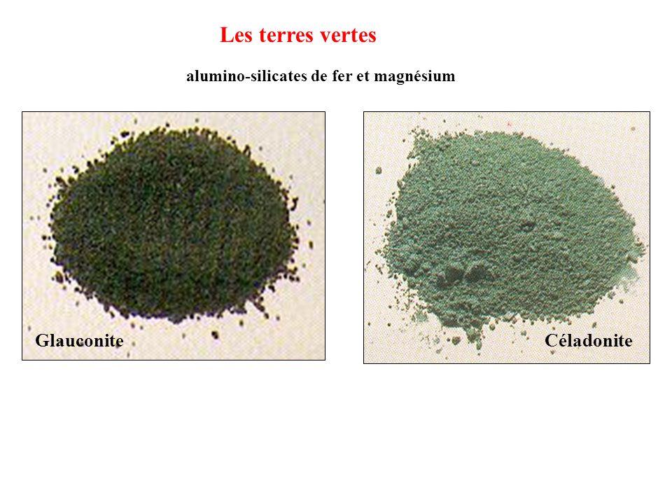 Les terres vertes Glauconite Céladonite