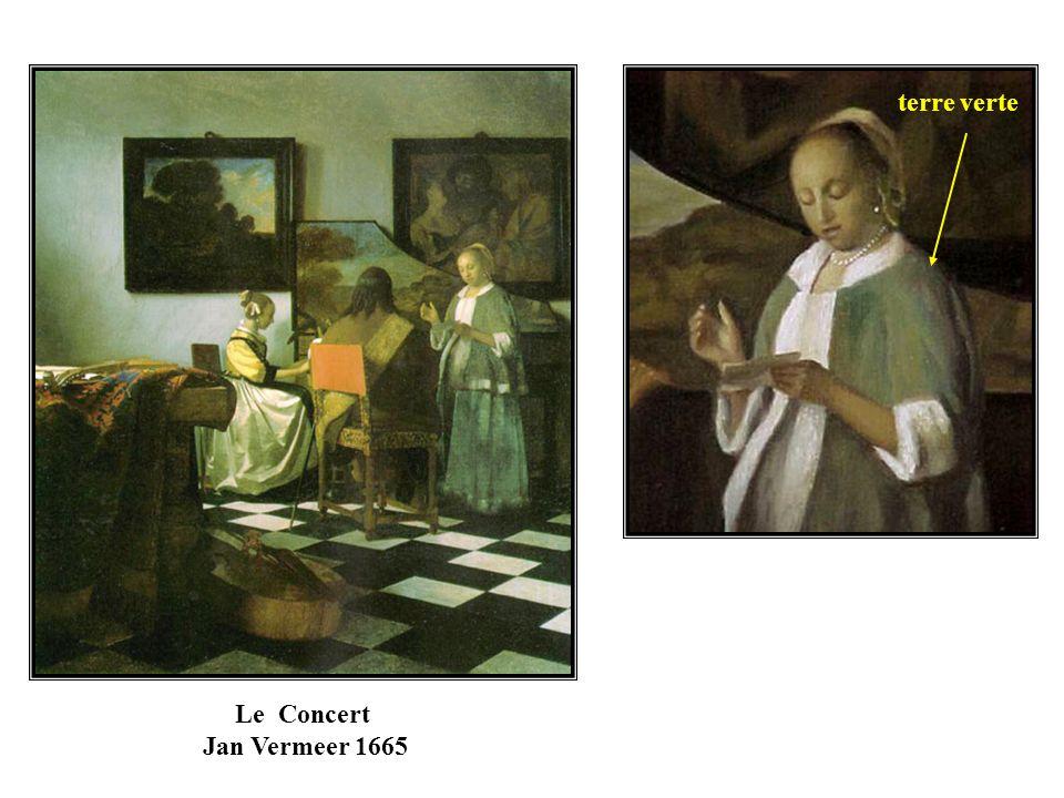 terre verte Le Concert Jan Vermeer 1665