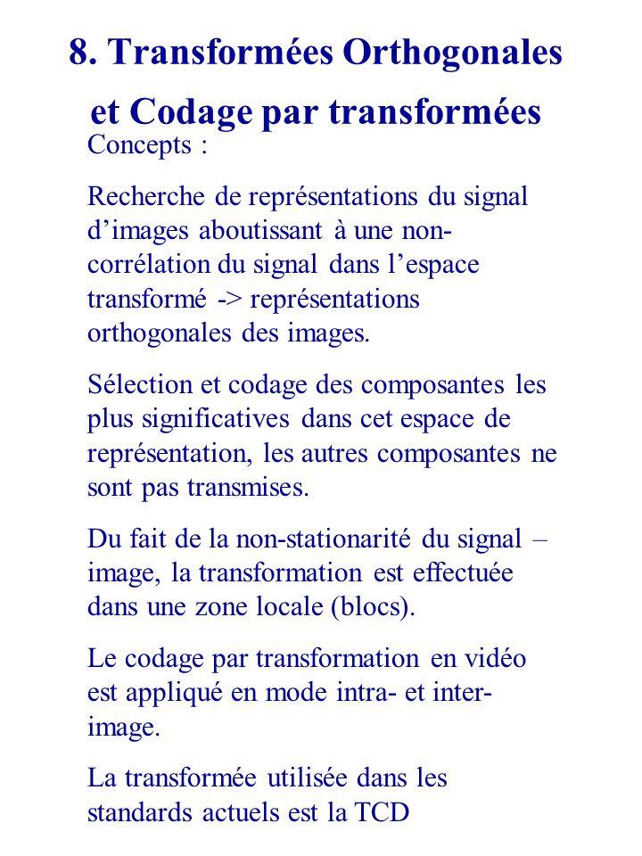 8. Transformées Orthogonales et Codage par transformées
