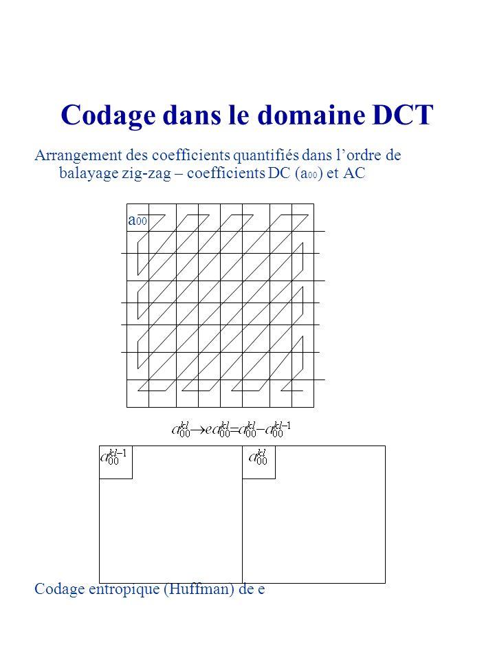 Codage dans le domaine DCT