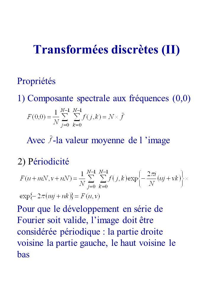 Transformées discrètes (II)