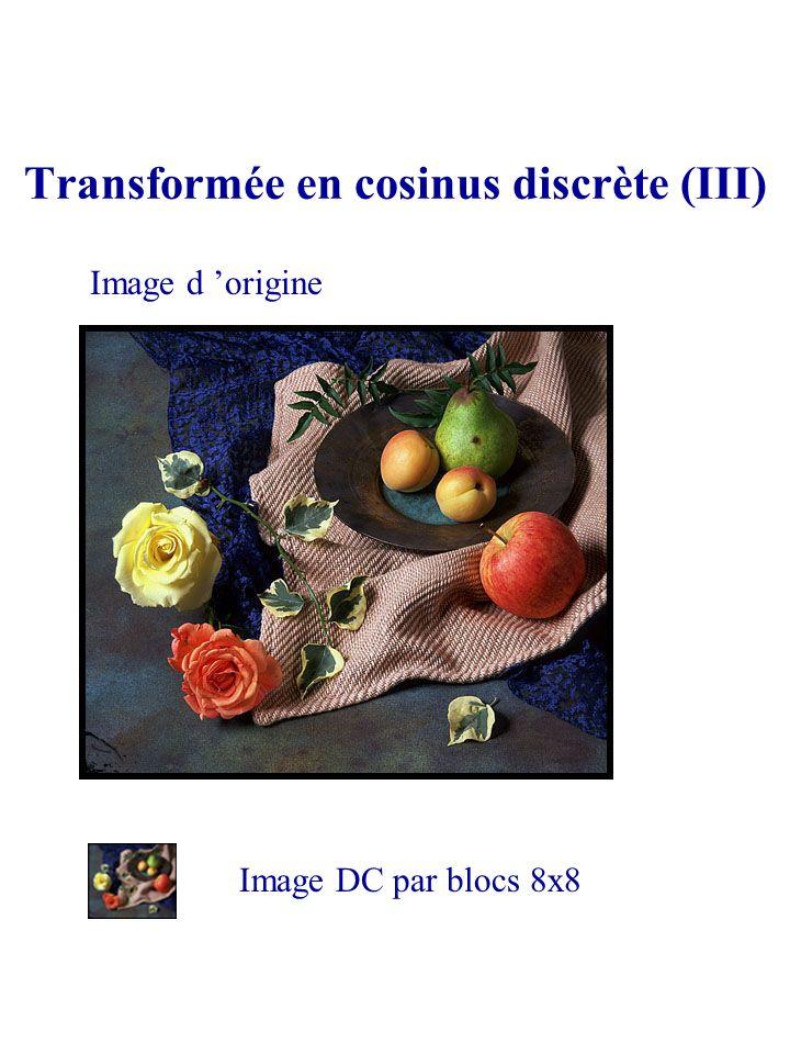 Transformée en cosinus discrète (III)