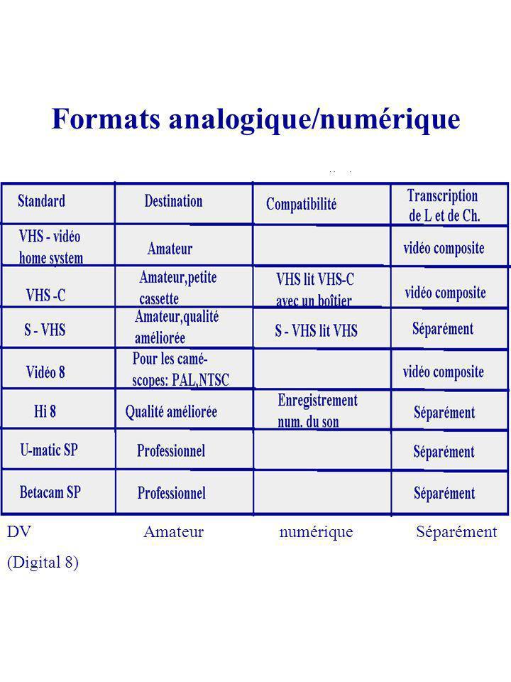 Formats analogique/numérique