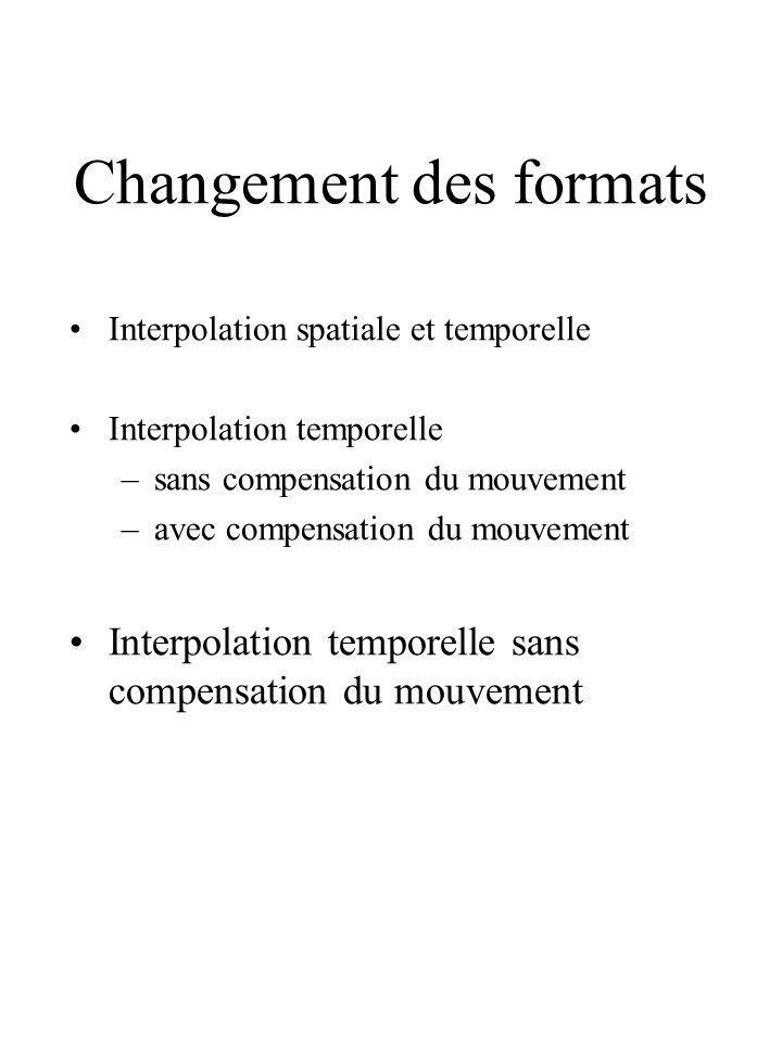 Changement des formats