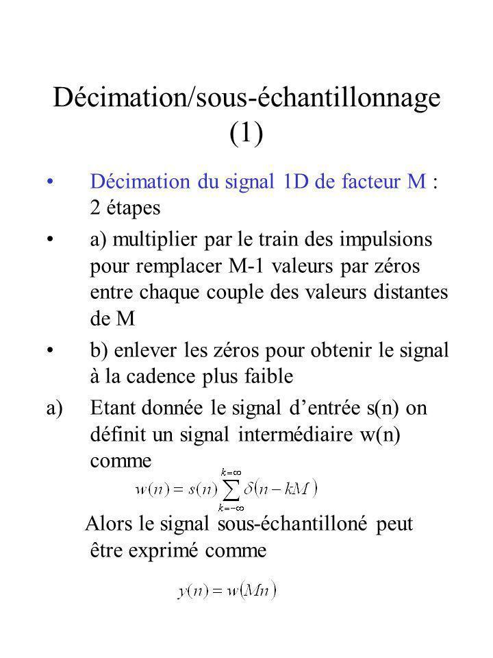 Décimation/sous-échantillonnage (1)