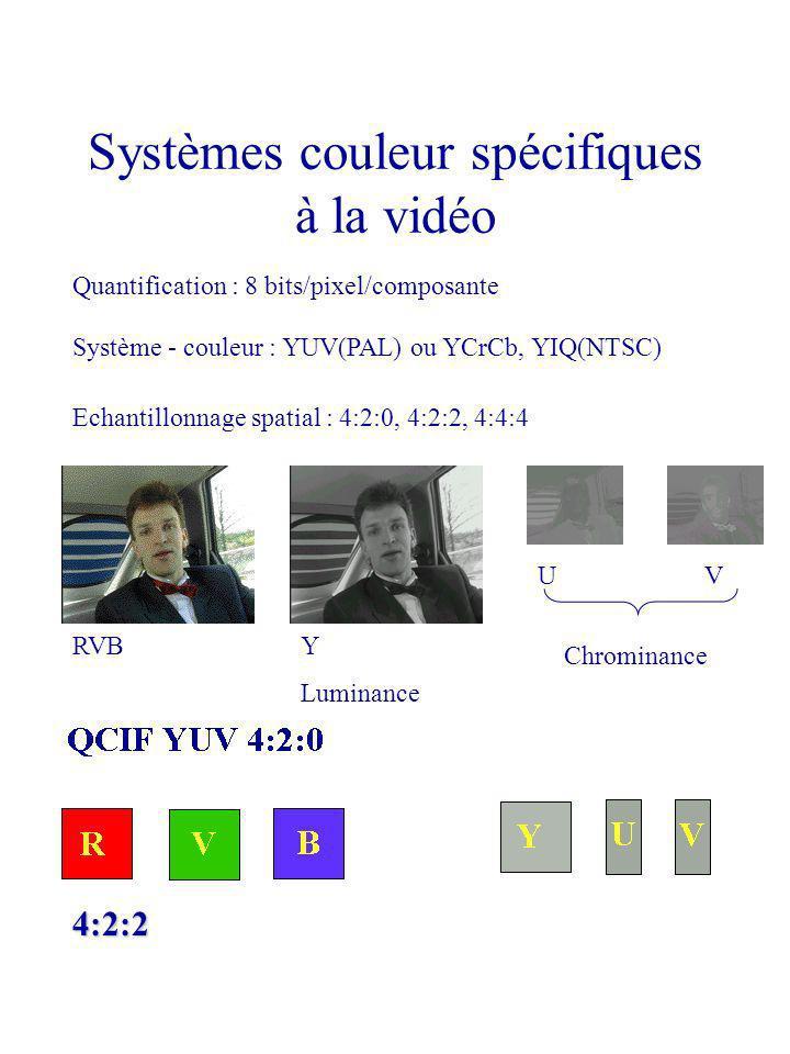Systèmes couleur spécifiques à la vidéo