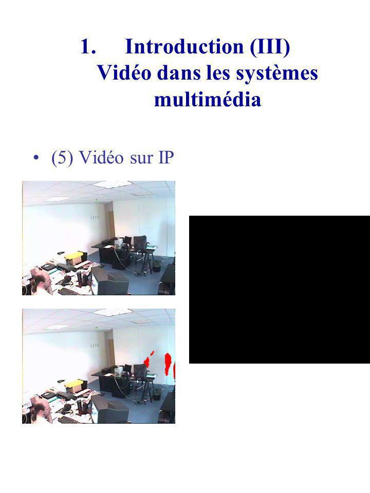 Introduction (III) Vidéo dans les systèmes multimédia