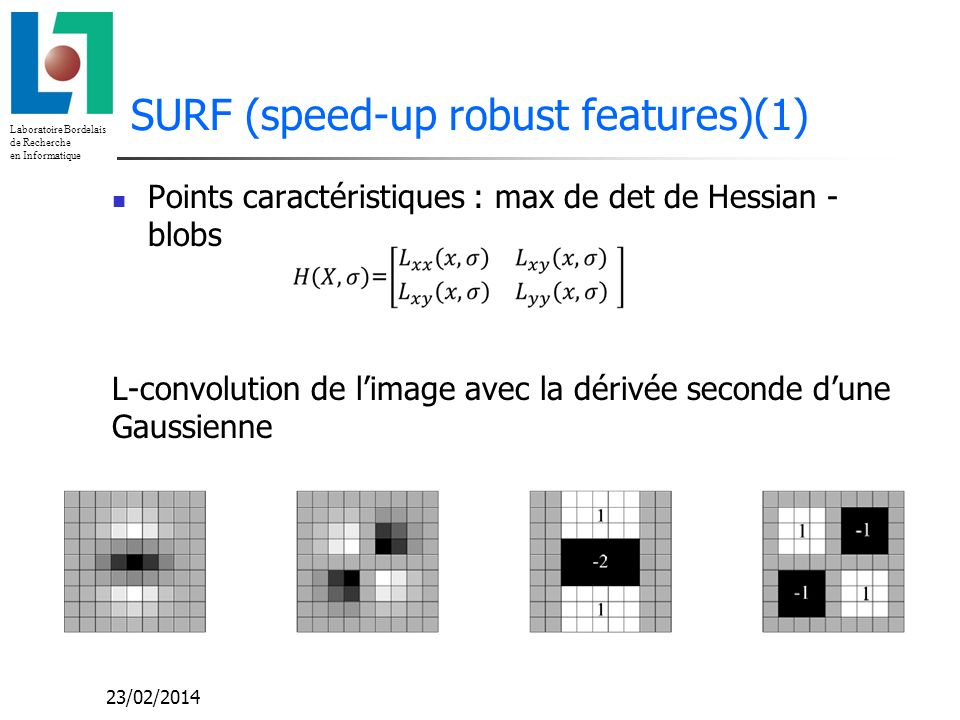 SURF (speed-up robust features)(1)