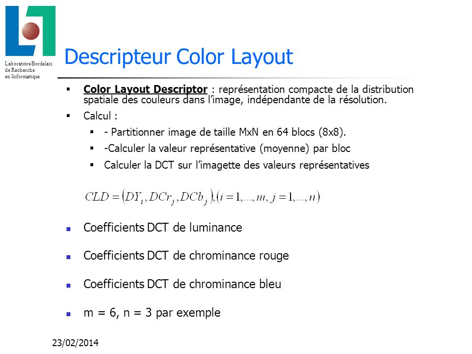 Descripteur Color Layout