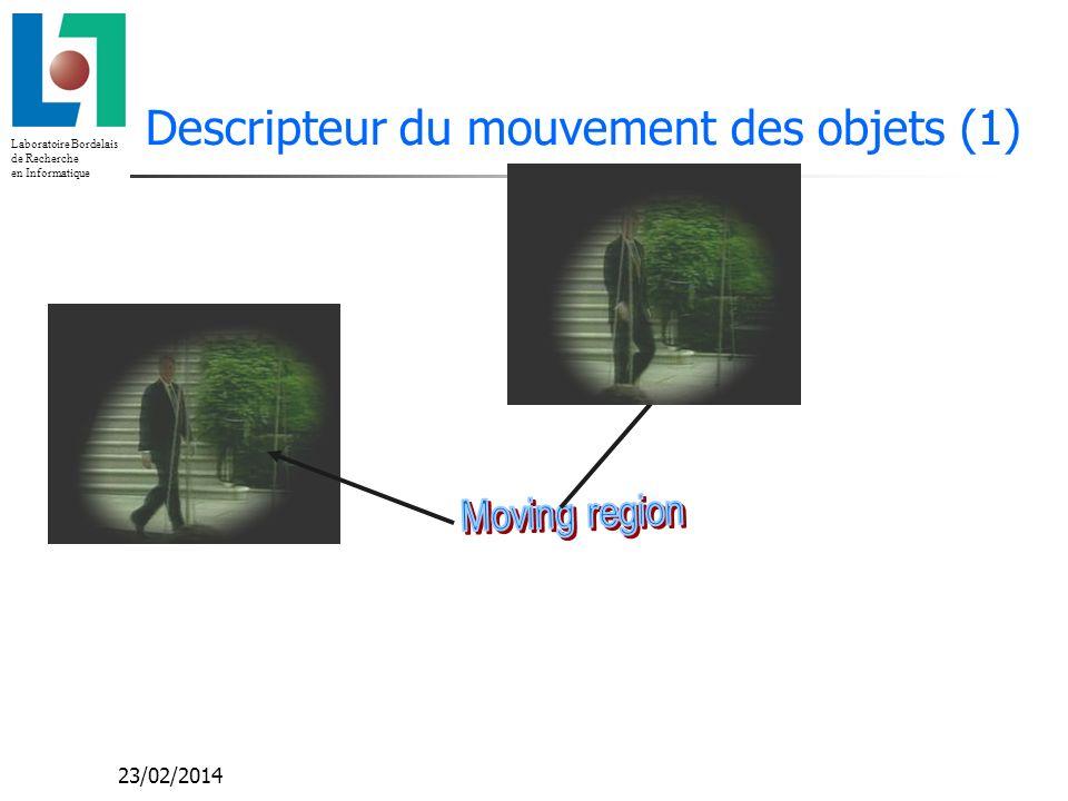 Descripteur du mouvement des objets (1)