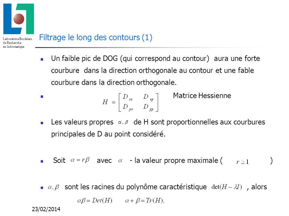 Filtrage le long des contours (1)